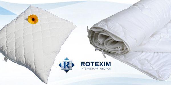 Kvalitní polštář a přikrývka od české firmy Rotexim