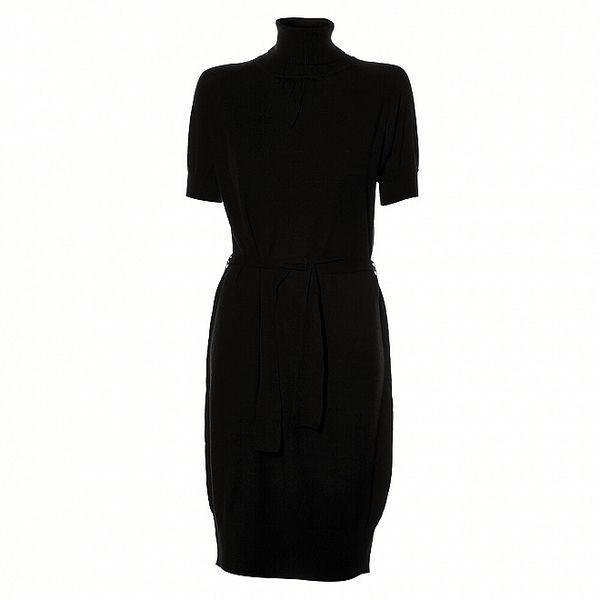 Dámské černé pletené šaty Pietro Filipi
