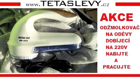 Odžmolkovač na oděvy dobíjecí na 220v konec otravování a utrácení peněz za baterie za 250kč poštovné je zdarma