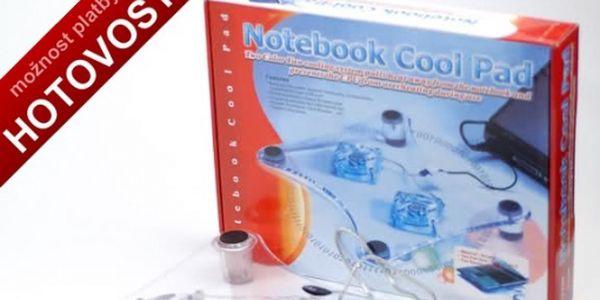 Výkonná chladící podložka pod NOTEBOOK se třemi ventilátory a podsvícením. Skvělý doplněk pro váš notebook, vhodné pro všechny typy notebooků, jen za 149,-Kč
