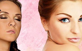 Permanentní make-up očních linek, obočí nebo rtů