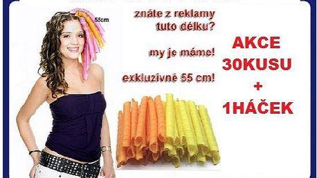 Magické natáčky dlouhé 55cm magic spirals sada 30ks+1háček za akční cenu 499kč poštovné je zdarma