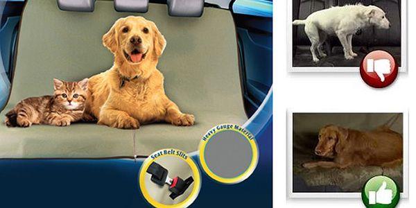 Praktická nepromokavá deka do auta pro psy a kočky. Univerzální velikost hodící se do každého auta.