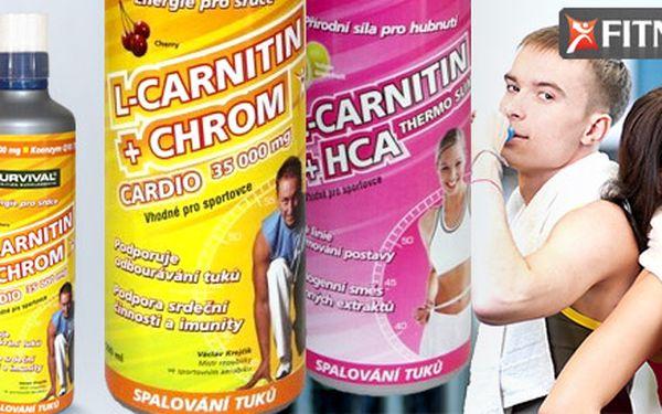 2 ks spalovačů tuků Survival L-Carnitin