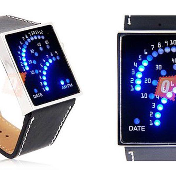 299 Kč za černé elegantní hodinky s 29 LED. Unikátní systém zobrazování času a poštovné zdarma!