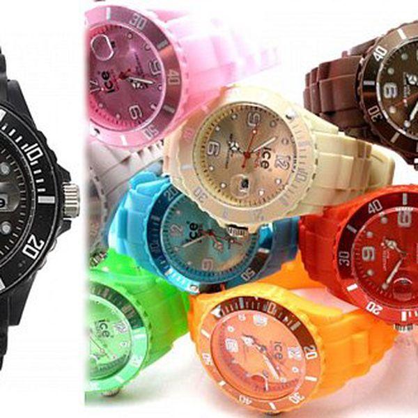 149 Kč za sportovní unisex silikonové hodinky ICE. Na výběr z 12 barev a poštovné zdarma!