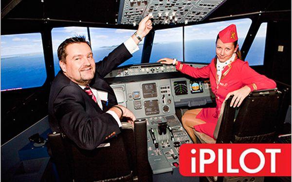 Životní zážitek! Buďte pilotem letadla na simulátoru reálných letů iPILOT.