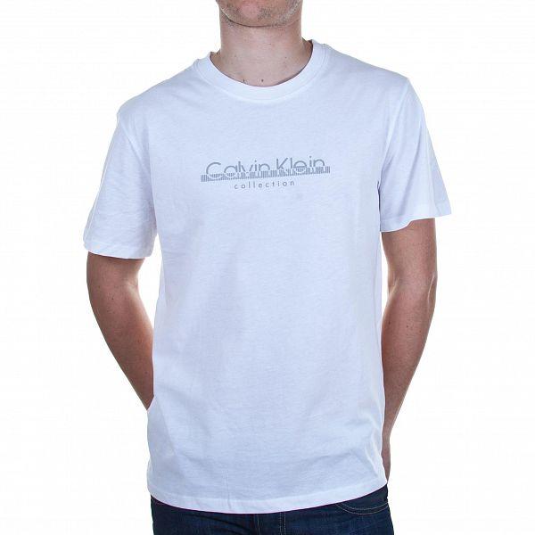 Pánské bílé tričko Calvin Klein s potiskem