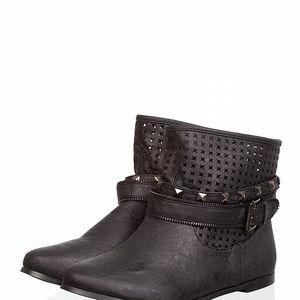 Dámské černé kotníčkové boty Ada Gatti