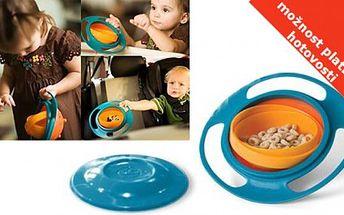 Nejlevněji v ČR!! Neskutečných 65 Kč za Gyroskopickou misku pro děti Gyro Bowl! Otáčejte misku dle libosti do všech stran, miska se nikdy nepřevrhne!