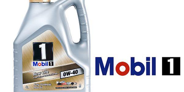 4 litry špičkového motorového oleje Mobil 1