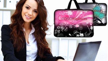 Krásné tašky na notebook! Komfortní polstrované tašky se zajímavými motivy!