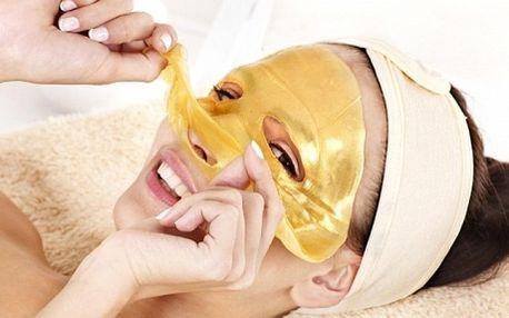 Omlazení pleti pomocí přípravku s obsahem nanozlata v Říčanech u Prahy! Luxusní ošetření exkluzivní maskou s nanozlatem zahrnuje také odlíčení, úpravu obočí a masáž. Velmi relaxační a příjemný odpočinek. Dopřejte si 60 minut péče pro Vaše omládnutí.