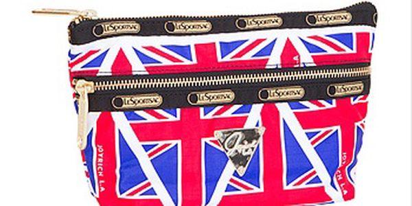 Kosmetická taštička s motivem anglické vlajky