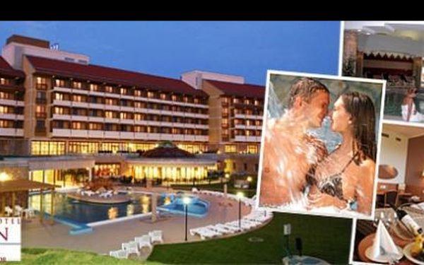 Prožijte luxusní dovolenou obklopeni léčivou silou unikátní JESKYNĚ a TERMÁLNÍ VODY nedaleko BALATONU. Načerpejte energii v Hunguest Hotel Pelion ****superior Tapolca v Maďarsku, s ubytováním na 4 dny pro DVA včetně bohaté POLOPENZE, relaxace v jeskyni a dalších benefitů za 7 190 Kč.