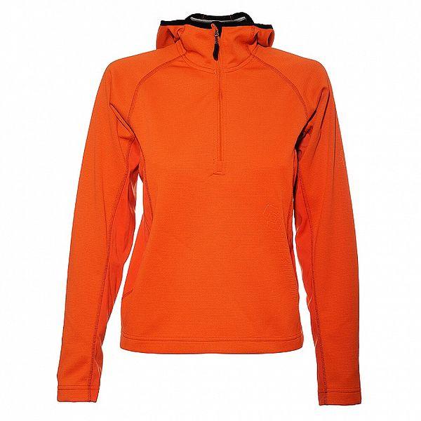 Dámská neonově oranžová mikina Trimm s kapucí