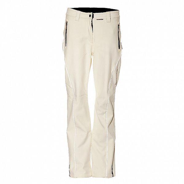 Dámské bílé softshellové lyžařské kalhoty Trimm