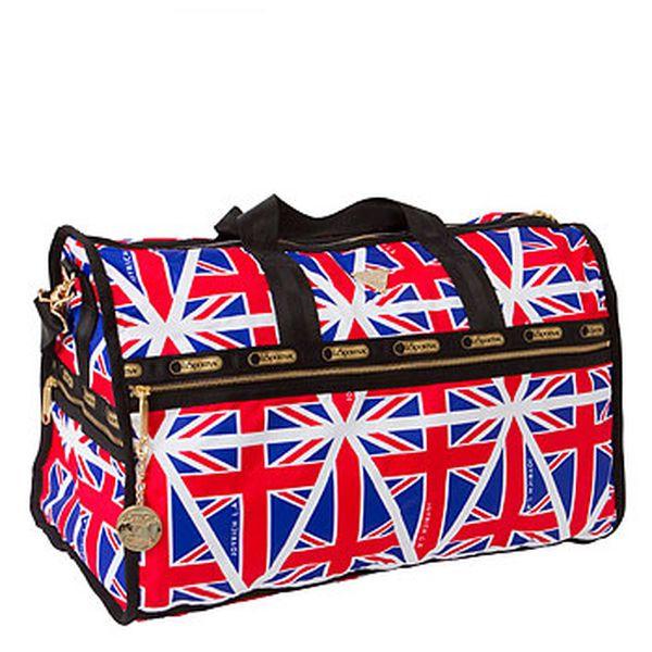 Cestovní taška s motivy anglické vlajky