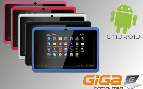 """Najnovší tablet EVANG TP7002A so 7"""" dotykovým kapacitným displejom, Androidom 4 a rýchlym procesorom AllWinner so zľavou až 40% od Gigacomputer.sk! Dostupný v 5 farbách!"""