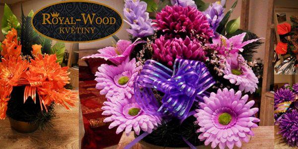 Vazba z umělých květin na Dušičky