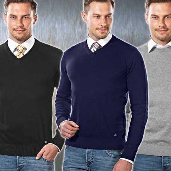 Luxusní pánské svetry Vincenzo Boretti ve čtyřech barvách.