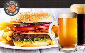 Len 4,70€ za šťavnatý burger, veľké steakové hranolky s dvomi druhmi omáčok a k tomu veľká kofola alebo pivo a horúce čučoriedky s vanilkovou zmrzlinou.