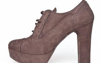 Dámské světle hnědé semišové boty Scarpe Italiane na vysokém podpatku