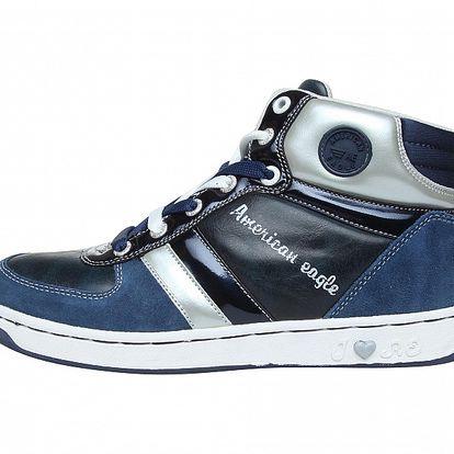 Dámské modré kotníčkové tenisky American Eagle