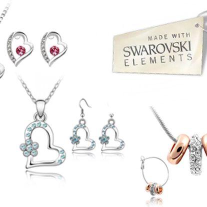 Potešte svoju polovičku krásnym darčekom! Súprava šperkov (náušnice, prívesok, retiazka) s kryštálmi Swarovski Elements so zľavou 60% vrátane poštovného!