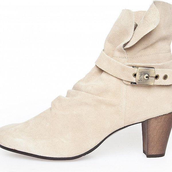 Dámské krémové semišové kotníčkové boty Dr. Scholl