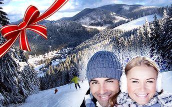 4-dňová zimná lyžovačka pre dve osoby , v Slovenskom raji. Užite si vo dvojici 4 dni s polpenziou a zľavou 25% na celodenný SKIPASS (len za 13,5 €) do 3 stredísk Ski Mlynky Dedinky, k tomu X-BOX kinect, biliard, stolný futbal, šípky a 10% zľava v hotelovej reštaurácii!