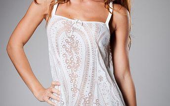 Dámská bílá vzorovaná košilka Roberto Cavalli