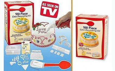 Zdobička na dorty s neuvěřitelnými 100 nástavci pro různé typy zdobení a plastovým úložným boxem za 119 Kč. Nádherně nazdobené dorty, cukroví, koláče a jiné dobroty. Staňte se profesionálem!