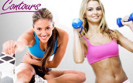 Mesačná permanentka do špeciálneho fitness pre ženy - CONTOURS! Vyskúšajte koncept kruhového cvičenia so skúsenou trénerkou a vyformujte si postavu so zľavou 60%!
