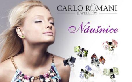 Náušnice - stylové bodky! Nadčasový šperk vhodný jak ke společenskému tak sportovnímu stylu oblečení. Stříbrné bodky s kamínkem zirkonu různých barev potěší všechny ženy! Využijte slevu 57 %!