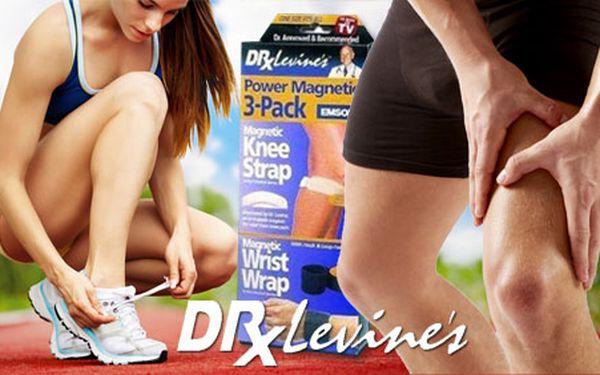 Magnetické pásy Dr. Levina (2 x na koleno a 1x na zápästie) len za 6€! Skoncujte navždy s bolesťami kĺbov a užívajte si pohyb s radosťou a úsmevom!
