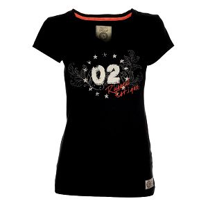 Dámské černé tričko Russell Athletic s potiskem
