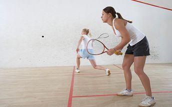 Ricochet (malý squash) na hodinu len za 5,39 €!