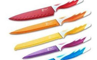PRO šéfa kuchyně: 5 špičkových KERAMICKÝCH NOŽŮ značky SWISS VISSER v dárkové sadě! Barevný design, ergonomické rukojeti