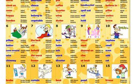 Anglický výukový kalendář – 195 karet, 1740 slovíček! VYZKOUŠEJTE snadný způsob učení anglického jazyka