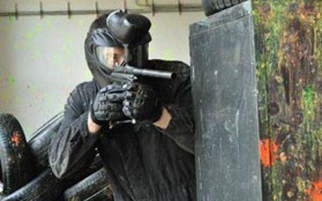 Neobyčejný adrenalinový zážitek v Děčíně: PAINTBALL na 3 hod pro 1 osobu v ozvučené patrové hale + zapůjčení zbraně, maskovacího obleku a kuliček