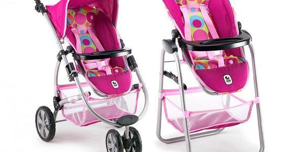Bayer Chic Novel set 2v1 je jedinečnou kombinací kočárku a jídelní židličky pro panenky