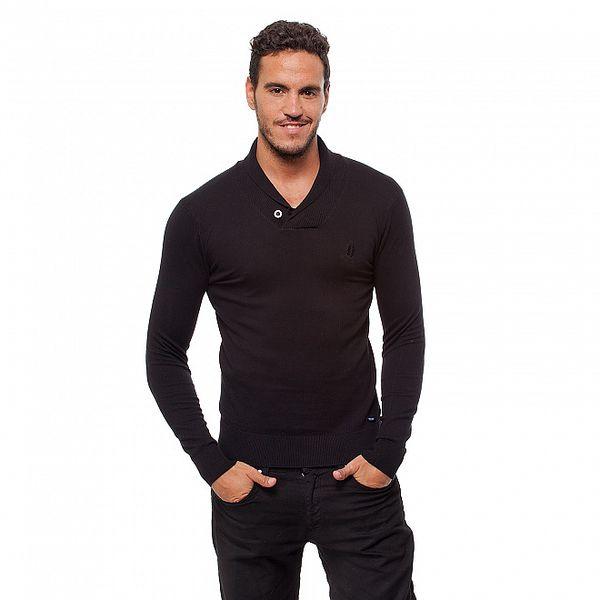 Pánský černý svetr Bendorff s límcem
