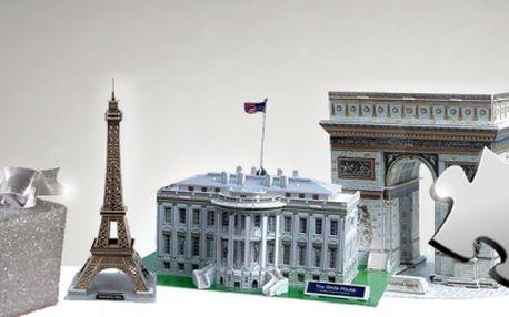 3D PROSTOROVÉ PUZZLE za pouhých 109 Kč! Udělejte radost svým blízkým a postavte si s nimi jednu z unikátních světových budov se slevou 50%!