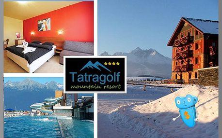 Vysoké Tatry, luxusní ubytování pro 2 osoby na 3 dny v 1pokojovém apartmánu v Tatragolf Mountain Resorts**** Slovensko! Komfortní ubytování v nově vybudovaných apartmánových domech ve Velké Lomnici. Areál je v blízkosti golfového hřiště. Sleva na pobyt 60%!
