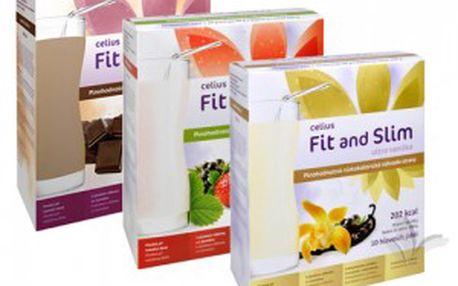 Celius Limitovaná edice Fit and Slim ultra 3x480 g (jahoda+vanilka+čokoláda)