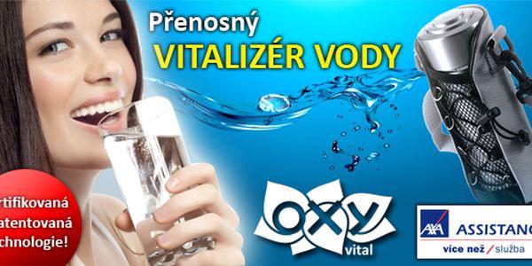 Aqua OXY - Přenosný vitalizér na úpravu pitné vody! Darujte si pod stromeček zdraví pitný režim, který budete mít vždy po ruce, kdykoliv a kdekoliv! Certifikovaná a patentovaná technologie úpravy pitné vody. Vitalizuje pitnou vodu, mění její strukturu a vlastnosti!