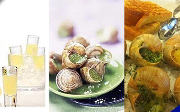 Variace 10 gratinovaných šneků + zdarma italský digestiv Limoncello 0,02l se slevou 70 %!!! Dopřejte si gurmánský zážitek!