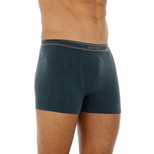 Troje pánské boxerky Unno - modré, černé, bílé