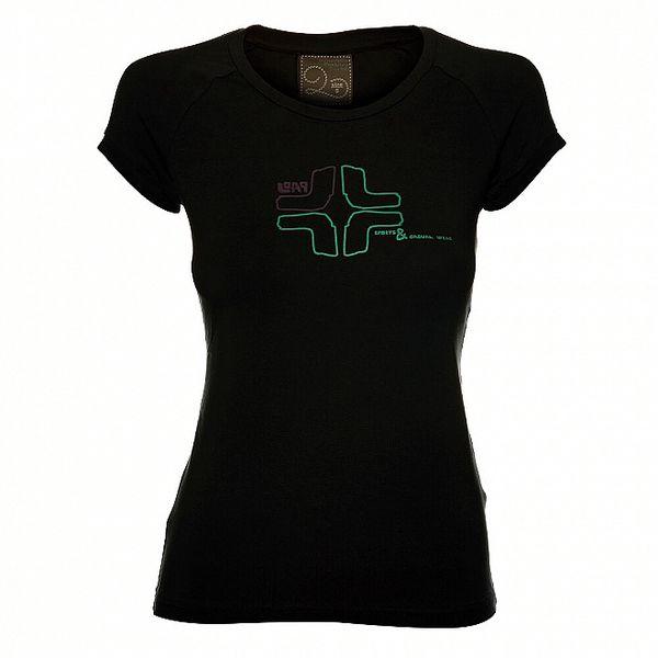 Dámské černé tričko Loap s potiskem